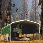 C-810  Round roof 12-gauge 18' wide x 31' long, with 10' tall legs